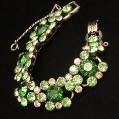Juliana D&E Bracelet Vintage 5-Link with Large Glass Stones