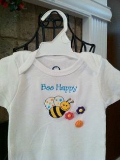Boutique Bumble Bee  Bee Happy Onesie for by GigglesandGrinsAgain, $21.50