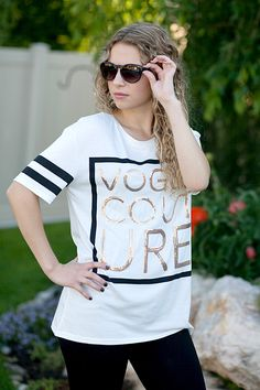 """Vogue Couture Sequins Tee 