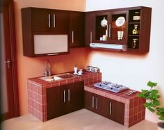 Small Kitchen:How To Make Small Kitchen Space Appear More Useful Design Small Kitchen With Low Kitchen Cupboard Minimalist Kitchen Cabinets