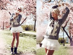 Very cute, love the lace, but the skirt is way too short.