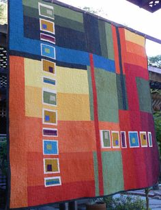 Spectrum Quilt by quiltsbydesign on Etsy
