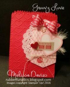Stampin' Up! Groovy Love Treat Bag by Melissa Davies @rubberfunatics #stampinup #rubberfunatics