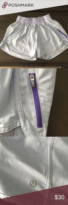 "Lululemon Tracker Short IV, sz 4 Lulu tracker short, sz 4. Like new condition. 4"" inseam. Pale purple (photos look a little more pale than actual). lululemon athletica Shorts"