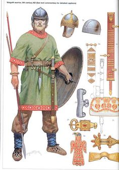 Member of a Germanic people whose two branches,Ostrogoths and Visigoths,that existed between 3rd and 5th Centuries.They harrassed the Romans on several occassions.They also sacked Rome and created a kingdom in Spain