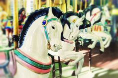 nursery art, pastel, year of the horse, chinese new year - Carousel I, original photography art print