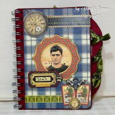 Board Book Proper Gentleman G45 Board Book, Album, Graphic 45, Gentleman, Blog, Scrapbooking, Paper Crafts, Art, Messages