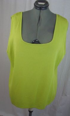 CHOICES Women Shell Plus Size 3X Green 65% Rayon 35% Nylon #Cloices #Shell #YourChoice