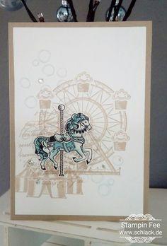 stampin occasions 2017 spring carousel birthday horse frühlingskatalog Pferd kirmes