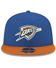 New Era Oklahoma City Thunder Basic Link 9FIFTY Snapback Cap - Blue Adjustable