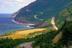 The Cabot Trail - Cape Breton, Nova Scotia - 2001 with Oakland and earlier, camping Cabot Trail, Oh The Places You'll Go, Places To Visit, Cape Breton, Future Travel, Canada Travel, Nova Scotia, East Coast, Scenery