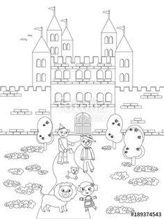 """Scarica il vettoriale Royalty Free  """"Coloring wizard of Oz 05 the Emerald Castle"""" creato da carlacastagno al miglior prezzo su Fotolia . Sfoglia la nostra banca di immagini online per trovare il vettoriale perfetto per i tuoi progetti di marketing a prezzi imbattibili!"""