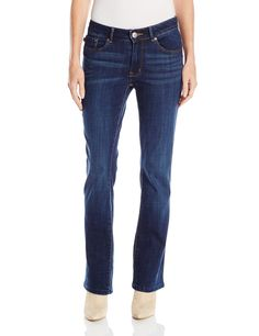 "Lee Women's Modern Series Curvy Fit Lexi Bootcut Jean, Ultra, 14 Short Petite. Curvy-fit contrast-stitched bootcut jean in dark wash with whiskered hips and no-gap waistband. Button-flap back pockets. Midrise waistband is higher in the back. Rise: 8.875"", Leg opening: 17.5"". Inseams--Short petite: 28.5"", Petite: 30"". Product measurements were taken using size 10. Please note that measurements may vary by size."