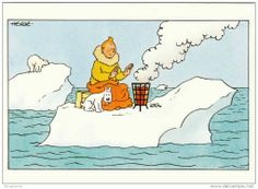 carte de vœux Tintin