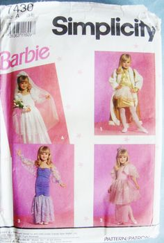 Barbie Dress Up Clothes Costume Little Girls by ObsoleteBoutique, $8.00