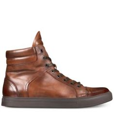 1edfe83ffc2a Kenneth Cole Reaction Men s Double Header High-Top Sneakers - Brown 10