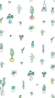 Oh my goshhhh! This iPhone wallpaper is perfect for spring or summer! I love the cactus pattern - it's super cute and boho. My new lock screen