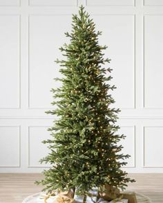 Balsam Hill Cathedral Fir Christmas Tree perfect for an entryway, foyer or mudroom Christmas Trees Uk, Balsam Fir Christmas Tree, Realistic Artificial Christmas Trees, White Christmas, Christmas Decorations, Christmas Ideas, Holiday Decorating, Christmas Inspiration, Christmas Stuff
