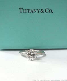 6cc562a8a 3-Stone Cushion w/ Baguette Diamond Engagement Ring E, VVS2 | eBay. Platinum  Engagement RingsWedding AnniversaryTiffanyMarriage ...