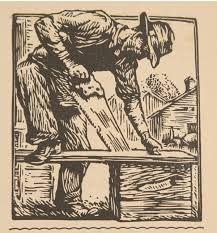 """Gustave Baumann - """"Chips an' Shavings"""" - 1929"""
