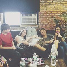 Sabrina Carpenter with Corey Fogelmanis, Sarah Carpenter, Peyton Meyer and Rowan Blanchard.