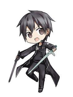 chibi Kirito from sword art online