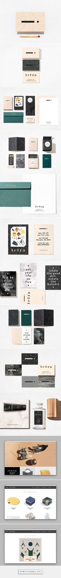 Tetra Smoke Shop Branding by Studio AH-HA | Fivestar Branding Agency – Design and Branding Agency & Curated Inspiration Gallery #branding #brand #brandidentity #design #designinspiration
