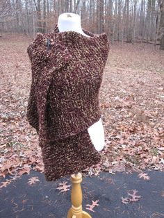 Maroon and Gold with a Hint of Black Handmade Wrap Prayer Shawl with Pocket or not by PoppyLesti on Etsy