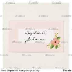 Shop Floral Elegant Soft Pink Business Card created by DesignByLang. Office Essentials, Happy Shopping, Business Cards, Online Shopping, Things To Come, Place Card Holders, Elegant, Friends, Floral
