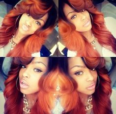 Reddish orange hair is nice ♥