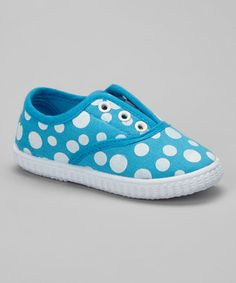 Look what I found on #zulily! Turquoise Polka Dot Slip-On Sneaker #zulilyfinds