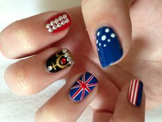 My nails by Wah Nails in Topshop Oxford Circus, London!