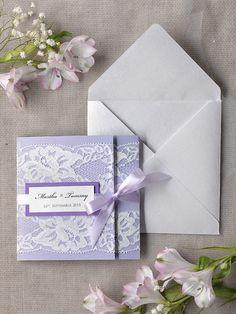 WEDDING INVITATIONS lace 04/laceW2/z