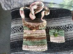 Purse and Wallet Set. Handmade. Stich is Crochet. $30 for the set. I can custom make to colors you want...