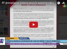AVIANCA suspende todos los vuelos ha Venezuela - Quedamos aislados!
