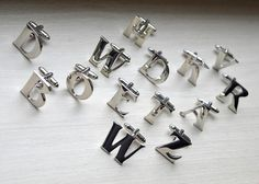 Letters Cufflinks/ Letter Cufflinks/ Initials Cufflinks/ Initials, Cufflinks, Letters, Trending Outfits, Unique Jewelry, Handmade Gifts, Accessories, Etsy, Fashion