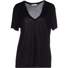 Equipment Femme T-shirt ($155) ❤ liked on Polyvore featuring tops, t-shirts, black, v neck pocket tee, black pocket t shirt, v neck pocket t shirt, black t shirt and pocket t shirts