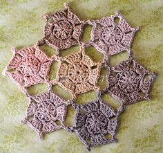 Ice Wash Snowflake Motifs with Picots...free pattern!