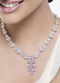 Floral Design Diamond Celestial Neckalce