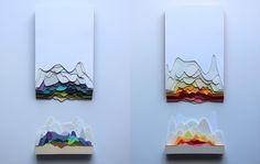Крутые и очень цветные 3d работы из цветной бумаги | Beloweb.ru