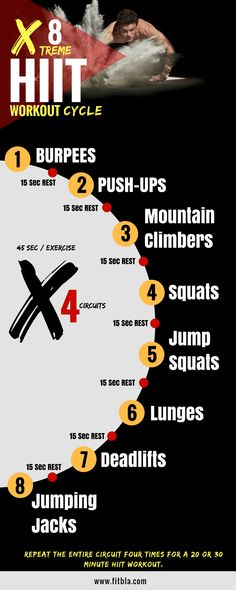 Do you want to melt Fat and get Lean Fast? try this Ultimate 8 x 4 HIIT Workout Challenge! It's guaranteed to get your heart rate up and torch some serious calories in a short amount of time. All you need for this workout is a little bit of space and determination!