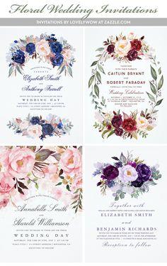 Burgundy Floral Invitation: https://www.zazzle.com/z/ydrxr?rf=238865222674126029 Pink Floral Invitation: https://www.zazzle.com/z/ydrwf?rf=238865222674126029 Purple Floral Invitation: https://www.zazzle.com/z/ydrwi?rf=238865222674126029
