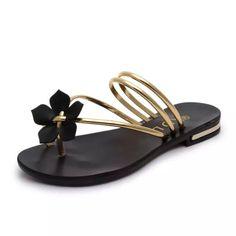 87091ff5a23c0 2017 New Arrival Summer Women Sandals Metal Women Shoes Chains Flip Flops  Flats Beach Flat Heel