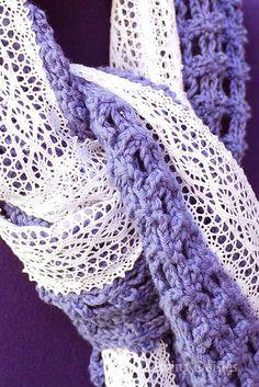 Crochet: Lavender Lace Scarf
