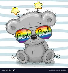 Cute Teddy Bear with sun glasses. Cool Cartoon Cute Teddy Bear with sun glasses royalty free illustration Scary Teddy Bear, Teddy Bear Cartoon, Cute Cartoon Animals, Cute Teddy Bears, Adobe Illustrator, Urso Bear, Pottery Painting Designs, Bear Coloring Pages, Disney Cartoon Characters