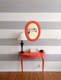 10 Reasonable Cool Tips: Wall Mirror Vanity Products wall mirror with lights lamps.Black Wall Mirror Sconces wall mirror living room home. Black Wall Mirror, Lighted Wall Mirror, Wall Mirrors Set, Living Room Mirrors, Mirror Set, Framed Wall, Grey Striped Walls, Gray Stripes, Hygge