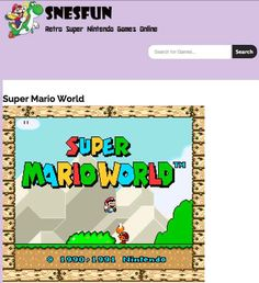 SNES Fun: | 35 Surprisingly Useful Websites You Never Knew You Needed