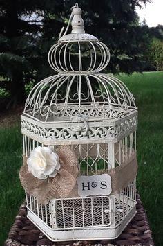 wedding birdcage rustic wedding card box birdcage card holder personalized on etsy