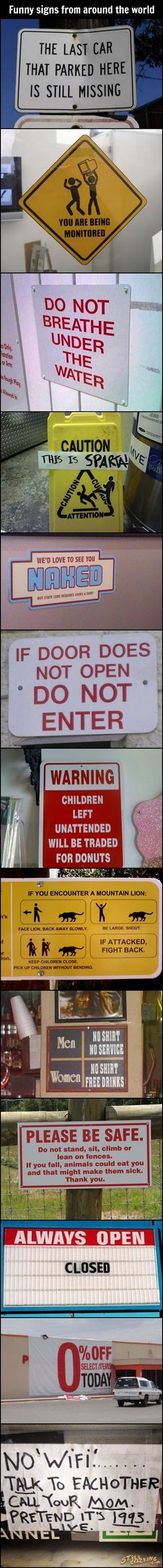 Funny Signs From Around The World.