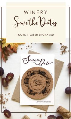 Build the anticipation of your wedding day with your Coaster Save the Dates. The excitement starts as soon as they receive your Save the Date in the mail..Your Save the Date will give a sneak peek of your winery wedding theme. It will also invite your guests to use the coaster and they will remember your wedding date every time they drink a glass of wine. The bottle design is also laser-engraved on the card and cut to hold the coaster. #winerysavethedates #coaster #rusticweddingsavethedates Rustic Wedding Stationery, Laser Cut Wedding Invitations, Destination Wedding Invitations, Cream Wedding, Wedding Day, Laser Cut Save The Dates, Rustic Wedding Save The Dates, Wedding Coasters, Bottle Design